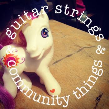 Guitar Strings & Community Things pony logo